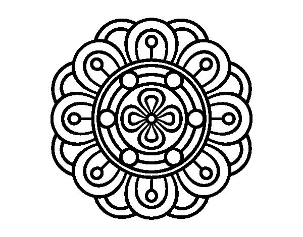 Dibujo De Mandala Flor Creativa Para Colorear