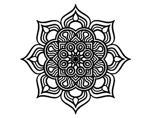 Dibujo de Mandala flor de fuego para Colorear  Dibujosnet