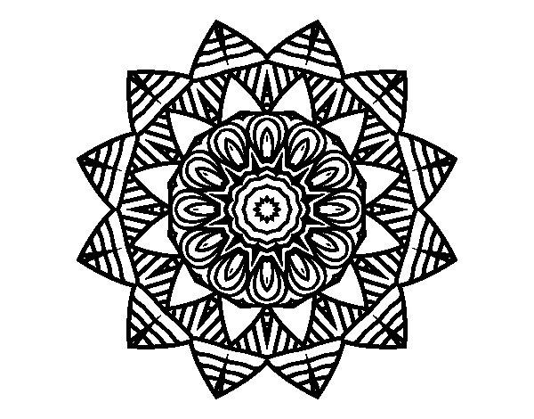 Dibujo de Mandala frutal para Colorear