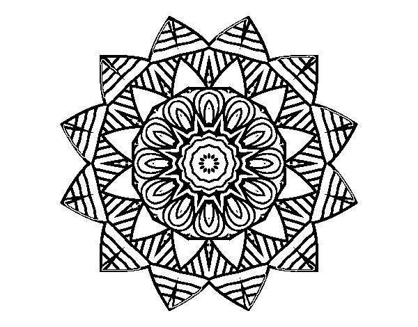 Dibujos Para Colorear De Arboles Frutales: Dibujo De Mandala Frutal Para Colorear