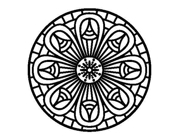 Dibujo de Mandala lápices crecientes para Colorear