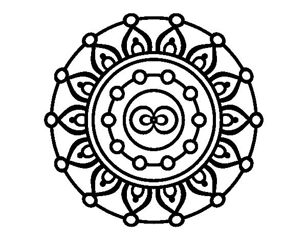 Dibujos De Mandalas: Dibujo De Mandala Meditación Para Colorear