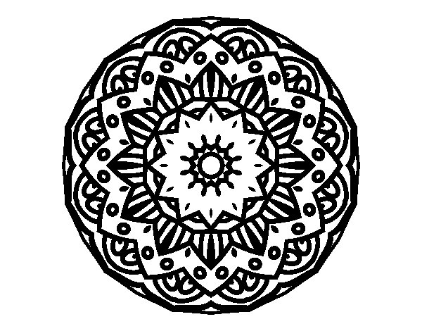 Dibujo de Mandala modernista para Colorear