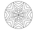 Dibujo de Mandala mosaico estrella para colorear