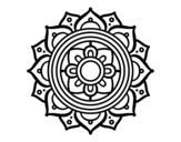 Dibujo de Mandala mosaico griego para colorear