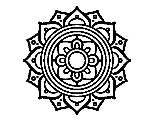 Mandalas Para Colorear De Bts: Dibujo De Mandala Mosaico Griego Para Colorear