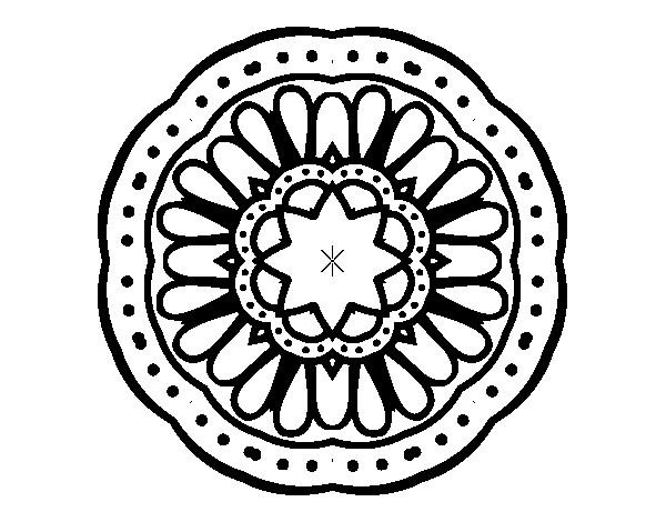 Mandalas De Dragones Para Colorear Descargar Imprimir Y: Dibujo De Mandala Mosaico Para Colorear