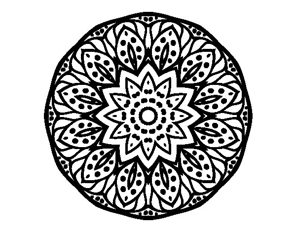 dibujo de mandala naturaleza para colorear