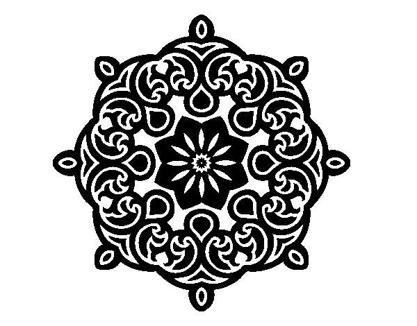 Dibujo de Mandala nube para Colorear