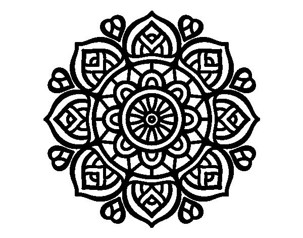 Imagenes Mandala Para Colorear 83: Dibujo De Mandala Para La Concentración Mental Para