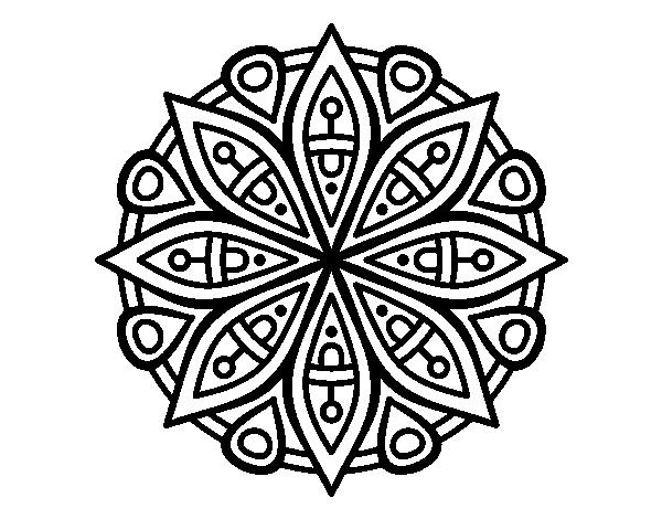 Pagina Para Colorear Mandala Mandalas Dibujos Para: Dibujo De Mandala Para La Concentración Para Colorear