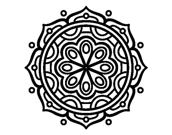 Dibujos Para Imprimir Y Colorear Mandalas: Dibujo De Mandala Para Meditar Para Colorear
