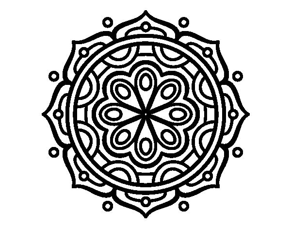 Dibujos Para Pintar En La Compu: Dibujo De Mandala Para Meditar Para Colorear