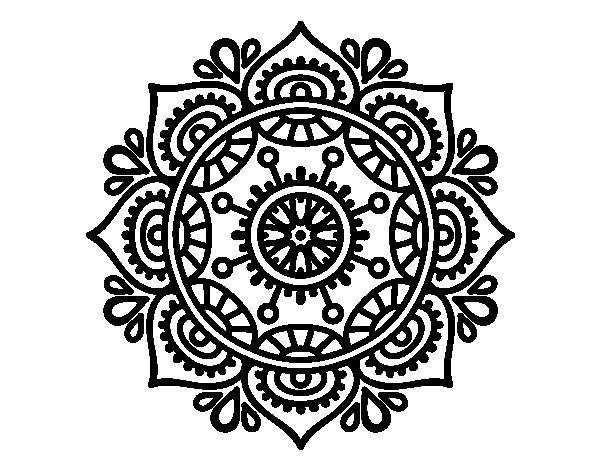 Pagina Para Colorear Mandala Mandalas Dibujos Para: Dibujo De Mandala Para Relajarse Para Colorear