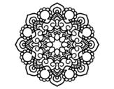 Dibujo de Mandala reunión para colorear