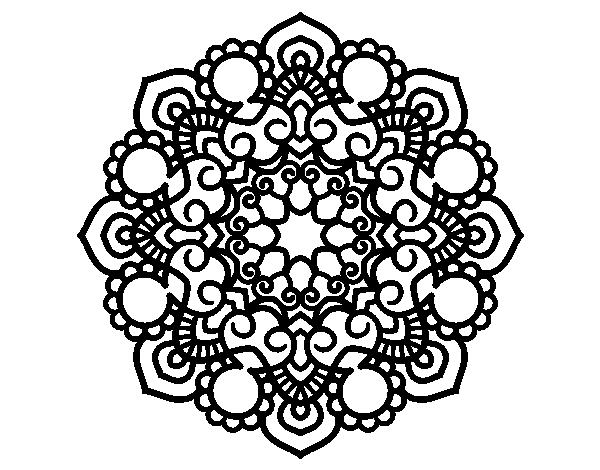 Mandalas Para Colorear Mandalas De Animales: Dibujo De Mandala Reunión Para Colorear