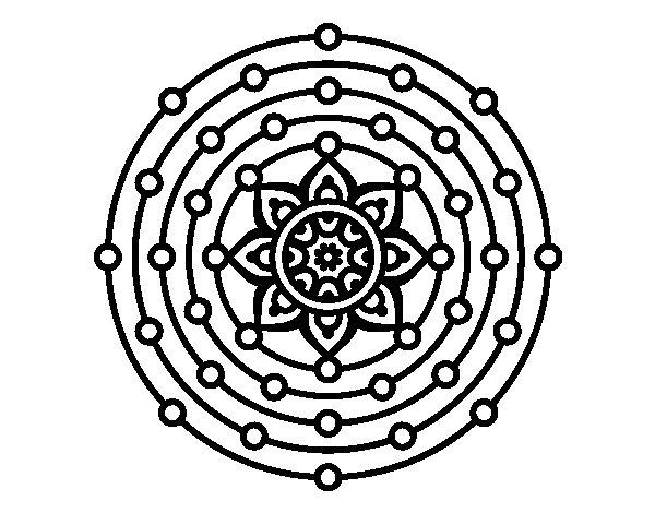 Imagenes Mandala Para Colorear 83: Dibujo De Mandala Sistema Solar Para Colorear