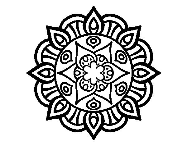 Dibujo de mandala vida vegetal para colorear for Disegni di mandala semplici