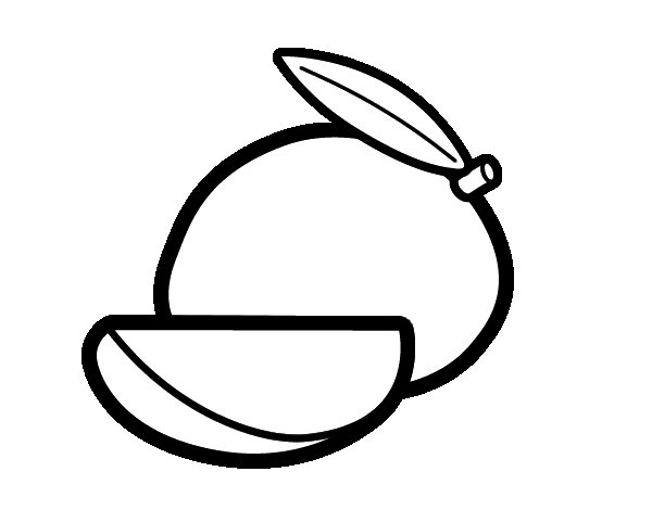 Dibujo de Mango para Colorear  Dibujosnet