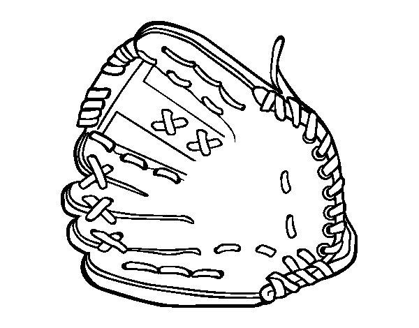 Dibujo de Manilla de béisbol para Colorear