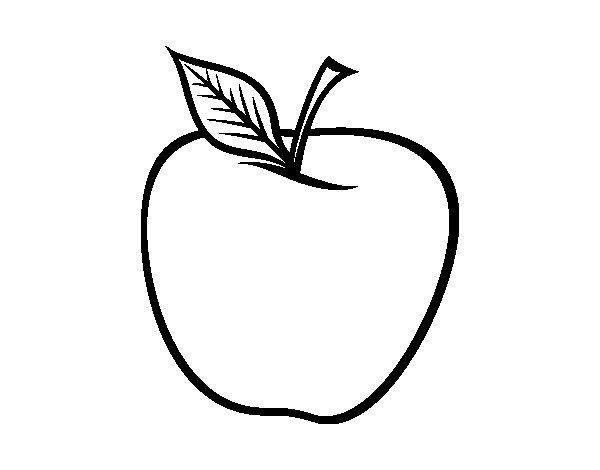 Dibujo de Manzana grande para Colorear