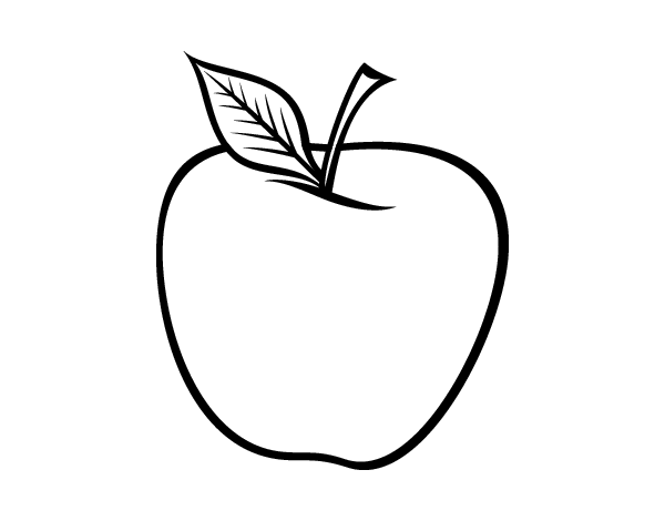 Dibujo de Manzana grande para Colorear  Dibujosnet
