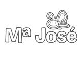Dibujo de Maria Jose para colorear