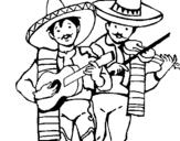 Dibujo de Mariachis para colorear