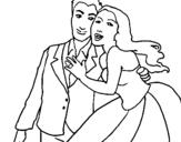 Dibujo de Marido y mujer para colorear