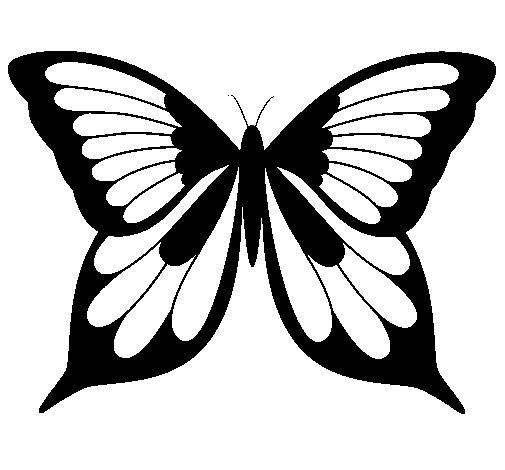 Dibujo de Mariposa 19 para Colorear