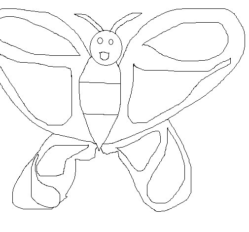 Dibujo de Mariposa 6 para Colorear