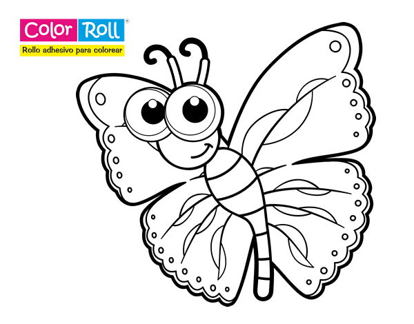 Dibujos De Oruga Para Colorear: Dibujo De Mariposa Color Roll Para Colorear
