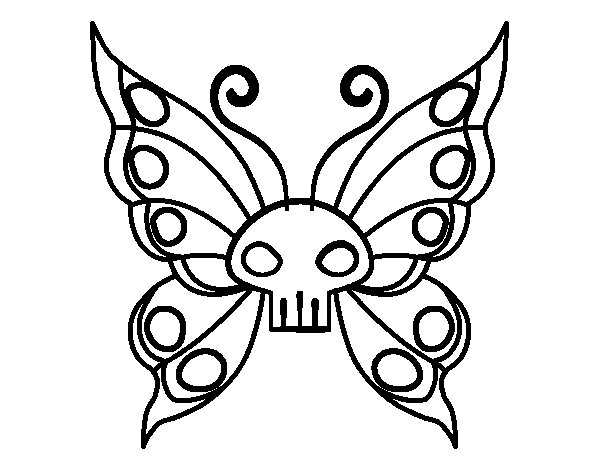 Dibujo de Mariposa Emo para Colorear  Dibujosnet