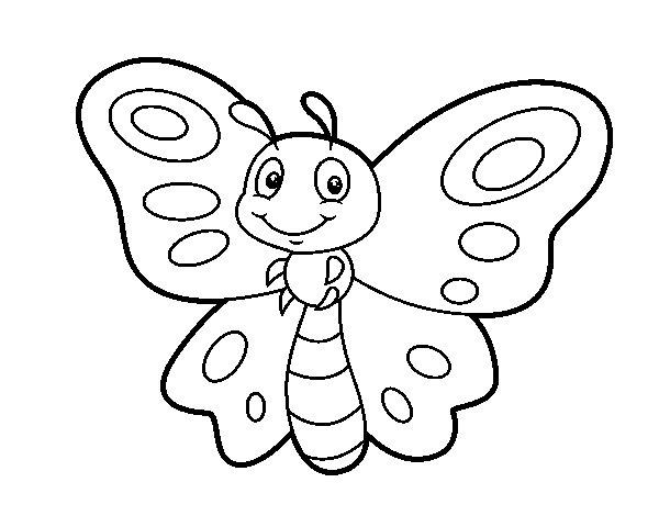 Dibujo de Mariposa fantasía para Colorear