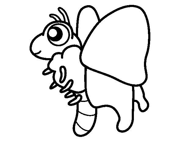 Dibujo de Mariposa feliz para Colorear