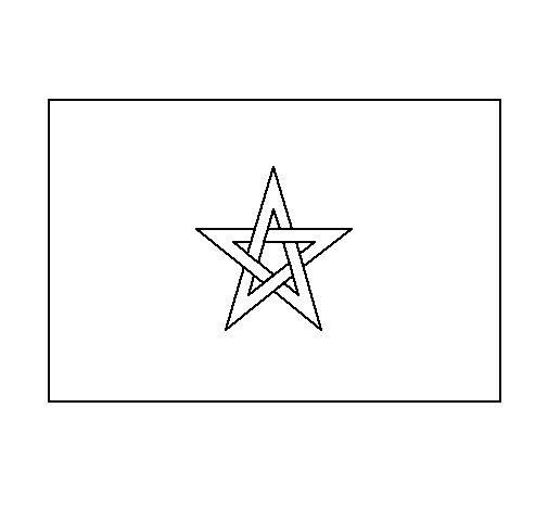 Dibujo de Marruecos 1 para Colorear