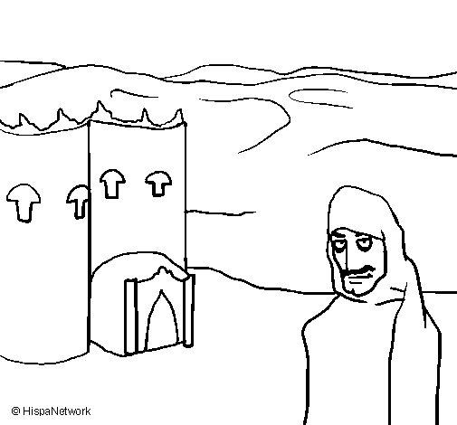 Dibujo de Marruecos para Colorear