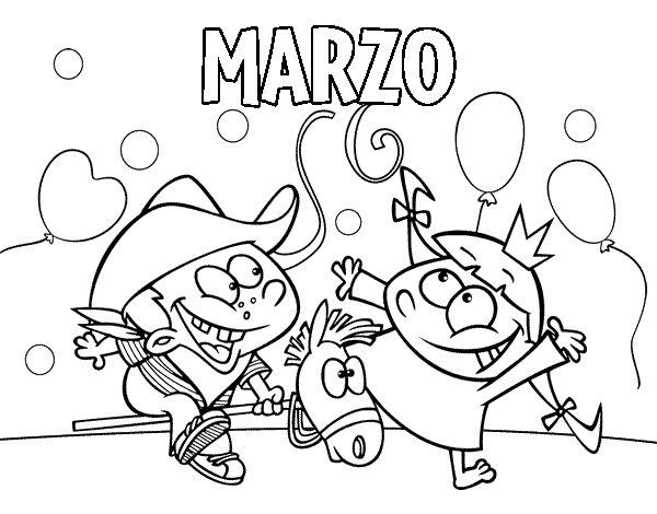 Dibujo de Marzo para Colorear