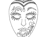 Dibujo de Máscara 1 para colorear
