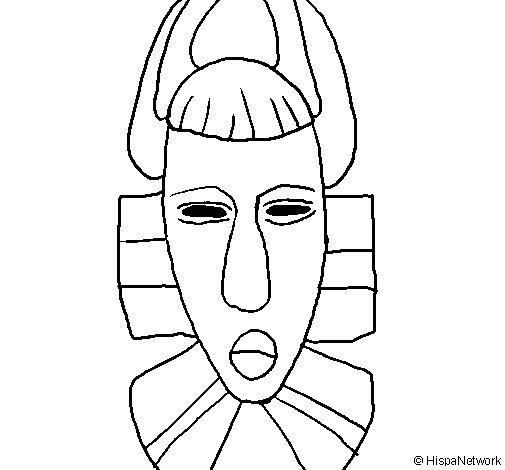Dibujo de Máscara africana para Colorear