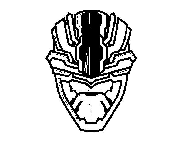 Dibujo de Máscara alienígena para Colorear