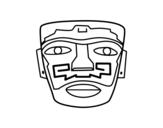 Dibujo de Máscara ancestral azteca