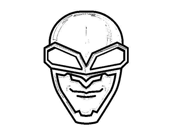 Dibujo de Máscara aviador para Colorear
