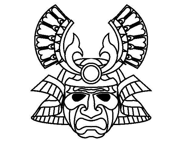Dibujo de Máscara china para Colorear