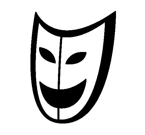 Dibujo de Máscara para Colorear