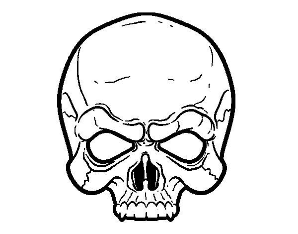 Dibujo de Máscara de Calavera para Colorear