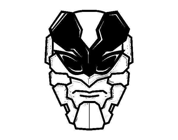 Dibujo de Máscara de hombre abeja para Colorear