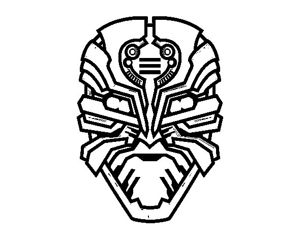 Imagenes Mascaras De Transformer: Dibujo De Máscara De Robot Alien Para Colorear