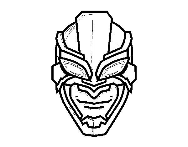 Dibujo de Máscara de superhéroe para Colorear