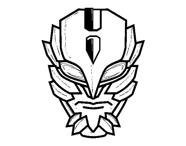 Dibujo de Máscara de supervillano para Colorear - Dibujos.net
